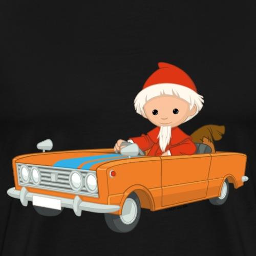 Sandmann fährt Auto - Männer Premium T-Shirt