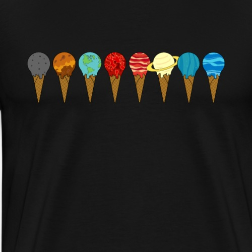 Solsystemet Planeter Isvafler - Herre premium T-shirt