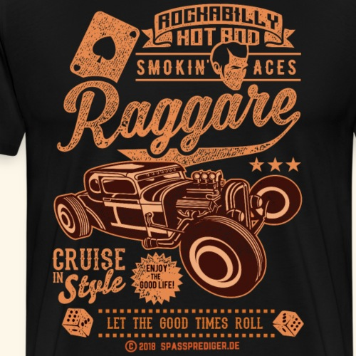 Raggare T Shirt Design Vintage Hot Rod - Männer Premium T-Shirt