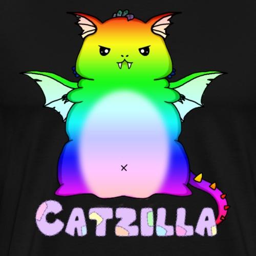Catzilla Dracat Rainbow - Men's Premium T-Shirt