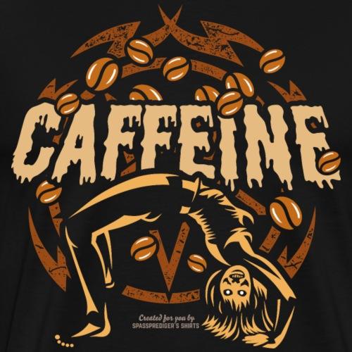 Kaffee T Shirt Design Caffeine - Männer Premium T-Shirt