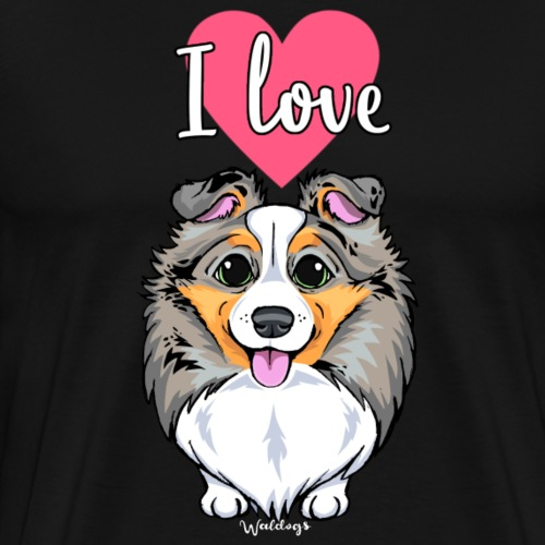 Sheltie Dog Love 3 - Men's Premium T-Shirt