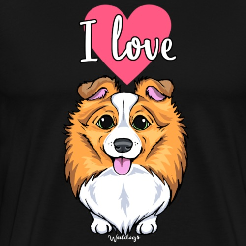 Sheltie Dog Love 2 - Men's Premium T-Shirt