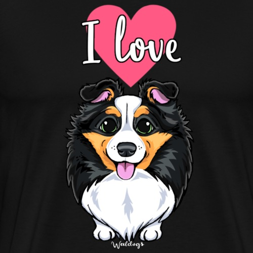 Sheltie Dog Love - Men's Premium T-Shirt