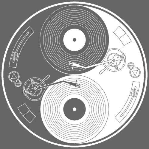 YIN YANG VINYL TORNABILE DJ TEKNO 23 - Maglietta Premium da uomo