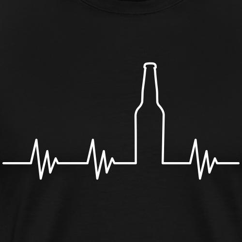 Puls Herzschlag Bier Vektor - Männer Premium T-Shirt