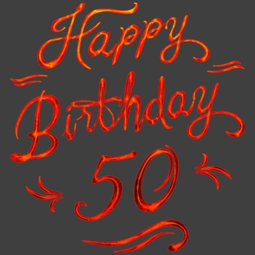 Birthday vintage red glow 50 - RAHMENLOS