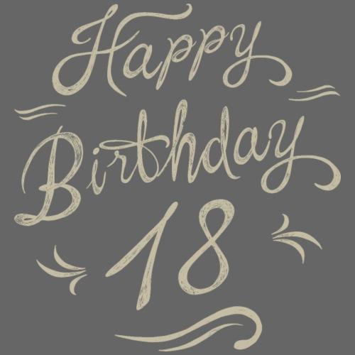 Birthday vintage creme love 18 - RAHMENLOS