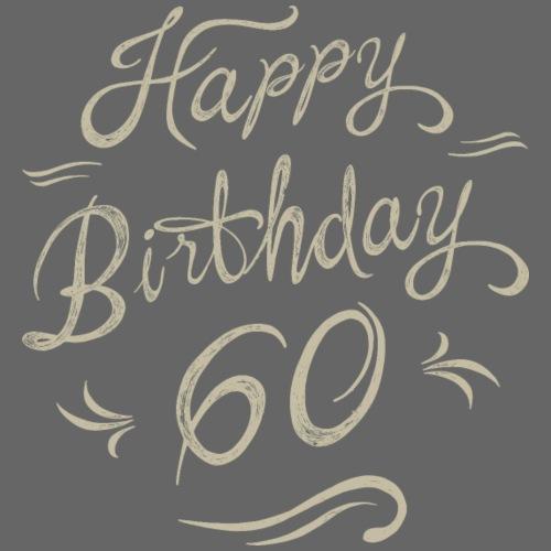 Birthday vintage creme love 60 - RAHMENLOS