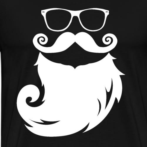 Brille und Bart Schnurrbart Vollbart - Männer Premium T-Shirt