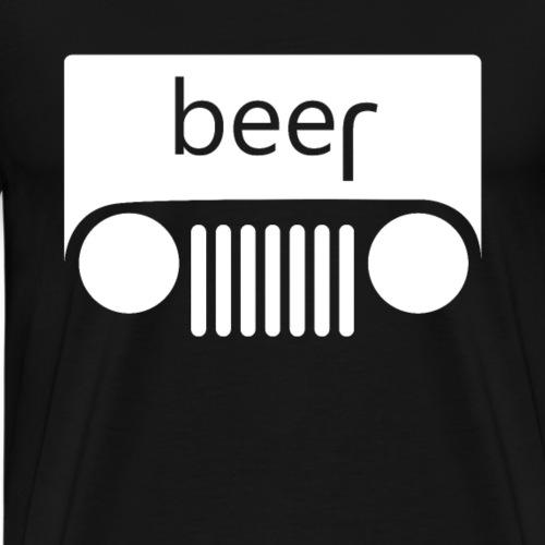 Jeep Auto lustiger Spruch mir Bier - Männer Premium T-Shirt