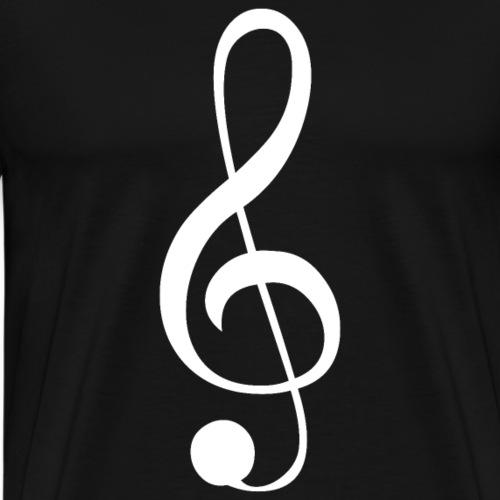 Musik Symbol Violinschlüssel Notenschlüssel - Männer Premium T-Shirt