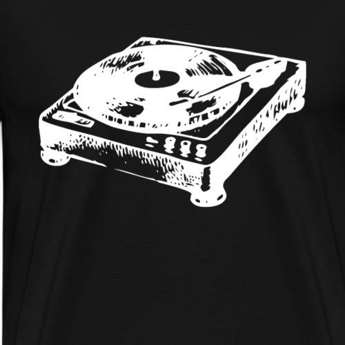 DJ Symbol Musik Musiker Plattenspieler Vinyl - Männer Premium T-Shirt