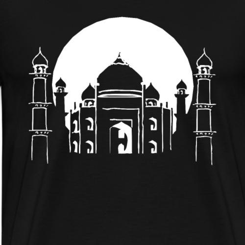 Gebäude Taj Mahal Haus Grabmal Indien Weltwunder - Männer Premium T-Shirt