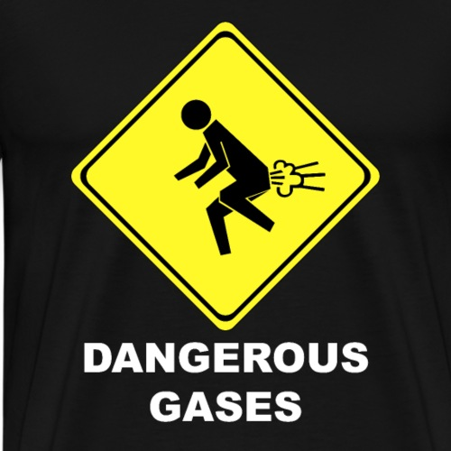 Gefährliche Gase Gas Pups Furz lustig Geschenk - Männer Premium T-Shirt