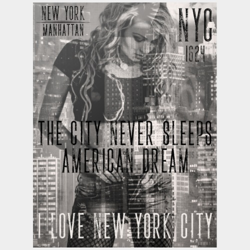 NEW YORK - THE CITY NEVER SLEEPS - DB #1 (CW) - Männer Premium T-Shirt