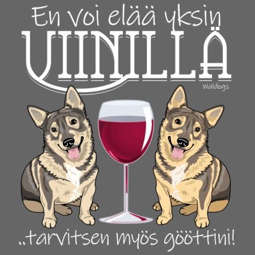 Yksin Viinillä Göötti II - Miesten premium t-paita