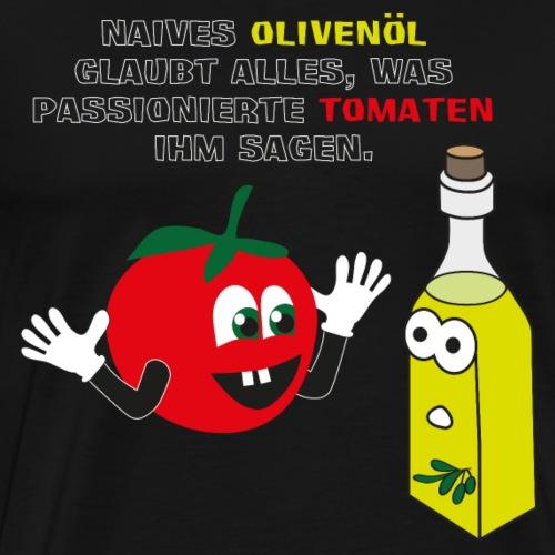 Tomate und Olivenöl - Männer Premium T-Shirt