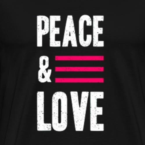 Peace and Love - Männer Premium T-Shirt