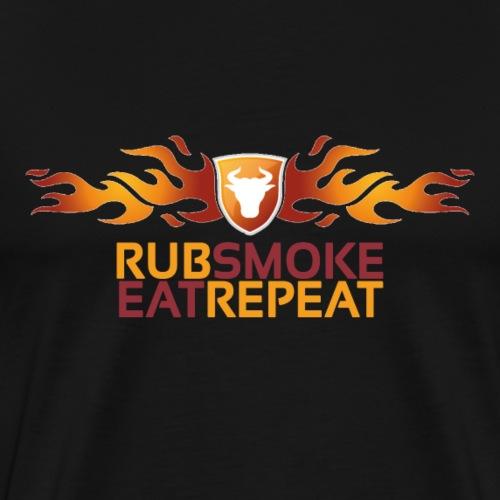 rub smoke eat repeat - Männer Premium T-Shirt