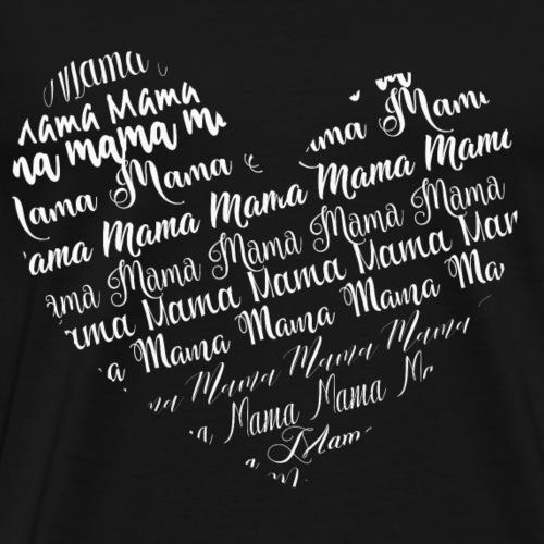 Mama Mutter Muttertag Geschenk Schwangerschaft - Männer Premium T-Shirt