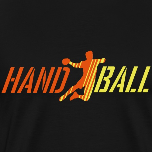 Handballer Streifen Schrift - Männer Premium T-Shirt