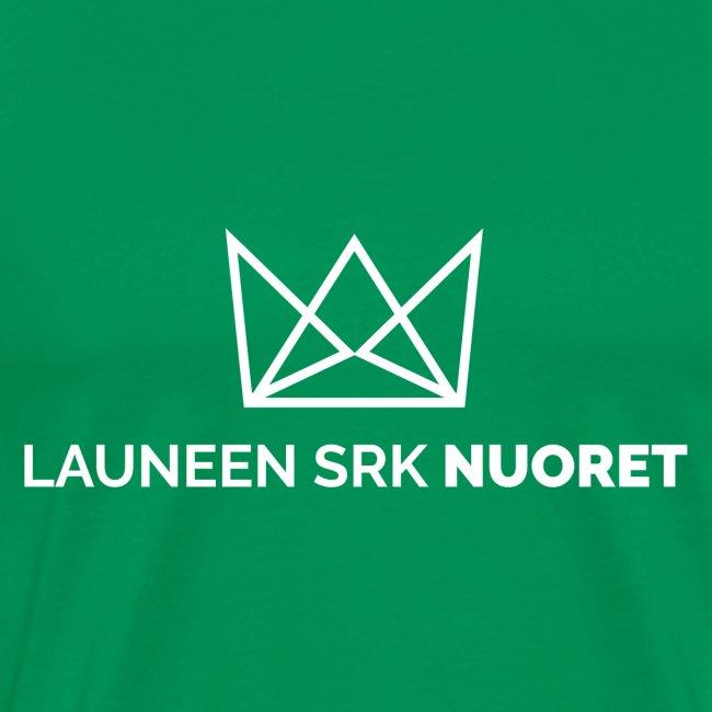 Laune logo tekstialla white png