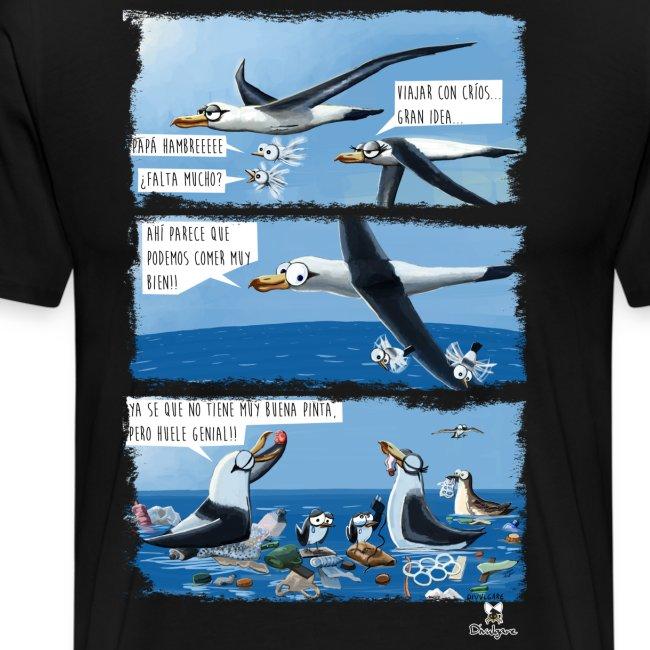 El plástico y las aves pelágicas.