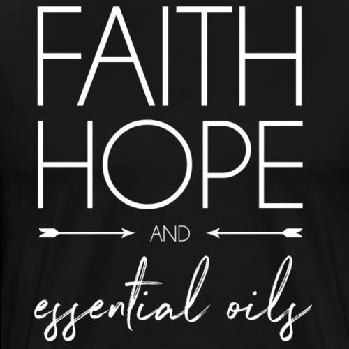 faithHOPEeo licht - Mannen Premium T-shirt