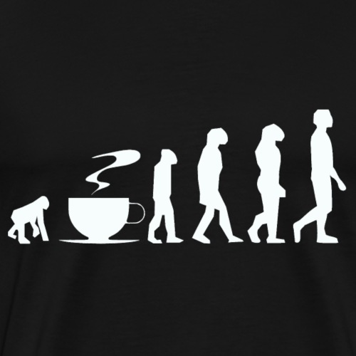 Coffee evolution white png - Men's Premium T-Shirt
