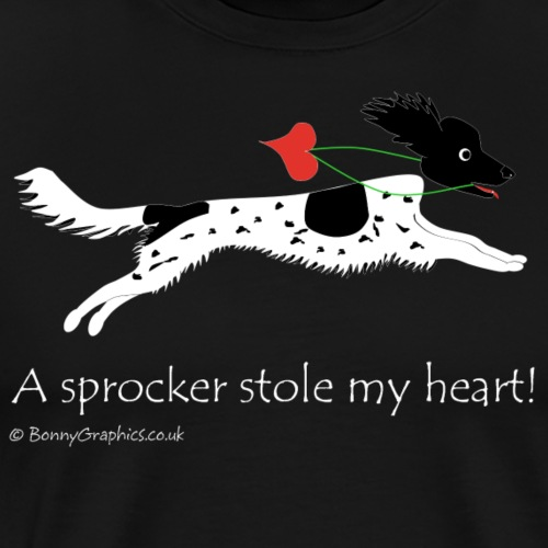 Sprocker black white dapple - Men's Premium T-Shirt
