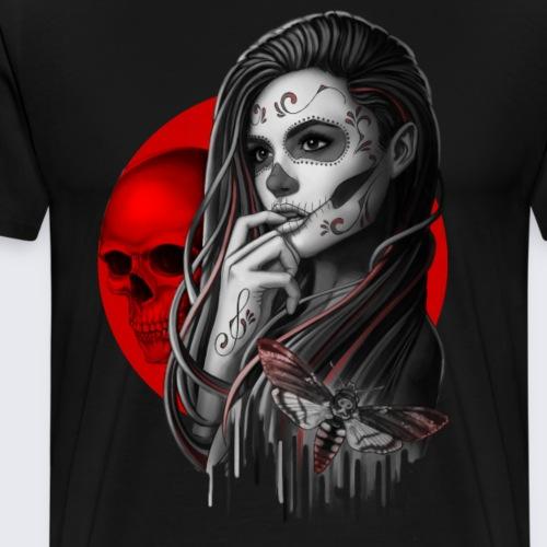 Sugar Skull Girl Hawk-Moth - Men's Premium T-Shirt