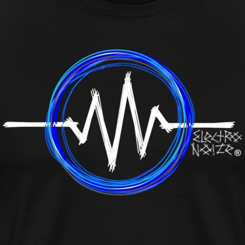 ElectroNoize Logo BLUE PX - Männer Premium T-Shirt