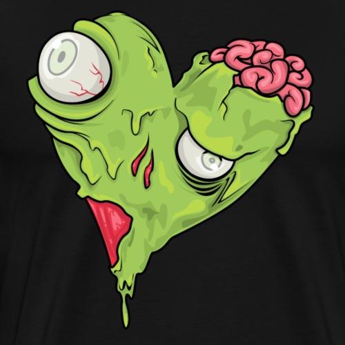 Halloween Zombie Herz - Männer Premium T-Shirt