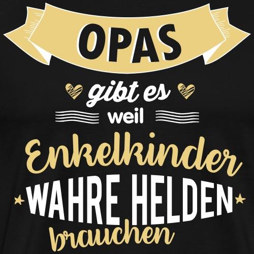 Opa - wahrer Held - Männer Premium T-Shirt