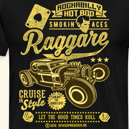 Raggare T Shirt Design for Sweden Fans - Männer Premium T-Shirt