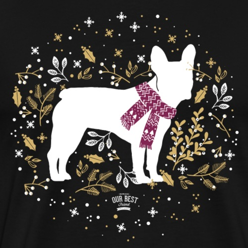 French Bulldog Winter - Männer Premium T-Shirt
