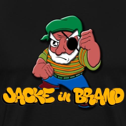 Jacke in Brand - Männer Premium T-Shirt