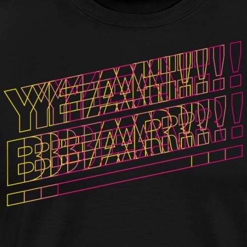 Yeah Bear Blur - Männer Premium T-Shirt