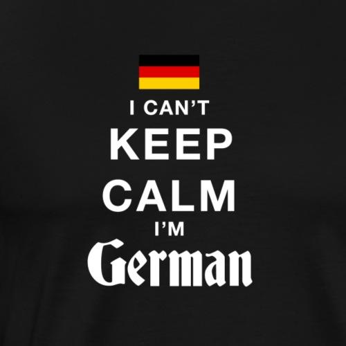 I CAN T KEEP CALM german - Männer Premium T-Shirt