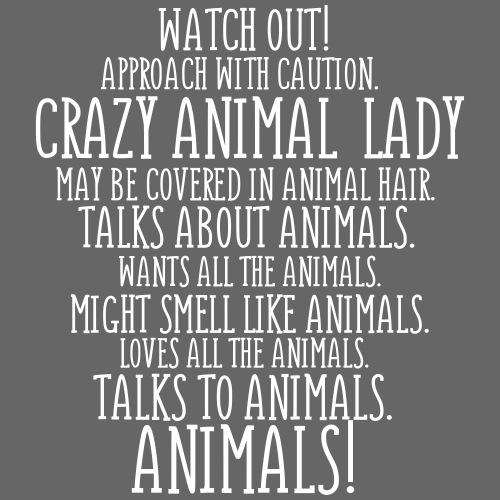 Crazy Animal Lady - Miesten premium t-paita