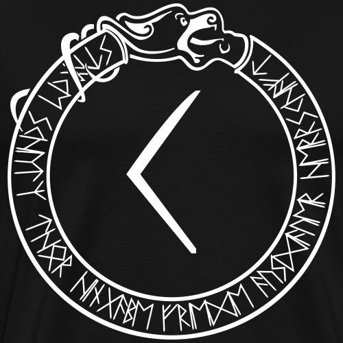 Schutzrune Kenaz - Inspiration - Vektor - Männer Premium T-Shirt