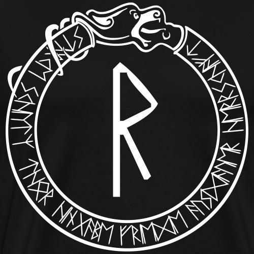 Schutzrune Raidho - Reise - Vektor - Männer Premium T-Shirt
