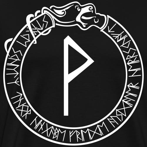 Schutzrune Wunjo - Freude - Vektor - Männer Premium T-Shirt