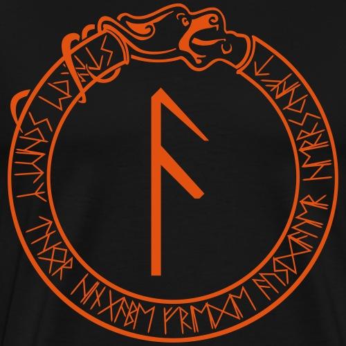 Schutzrune Ansuz - Inspiration - Vektor - Männer Premium T-Shirt