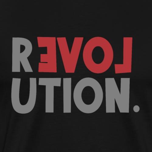 Revolution Love Sprüche Statement be different - Männer Premium T-Shirt