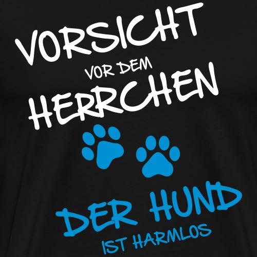 Vorsicht Herrchen - Männer Premium T-Shirt