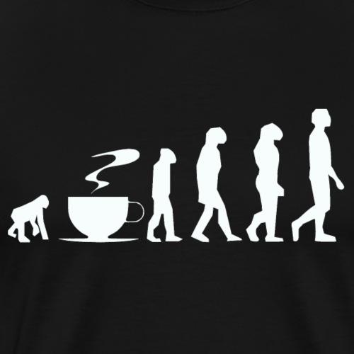 Coffee evolution white png - Men's Premium T-Shirt