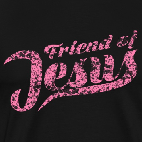Friend of Jesus rosa - Männer Premium T-Shirt