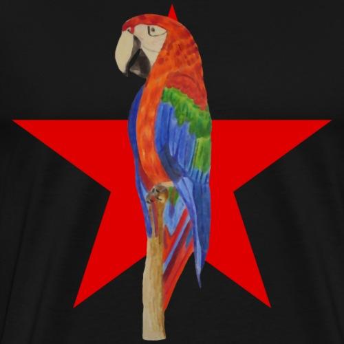 Papagei Revolution Roter Stern - Männer Premium T-Shirt